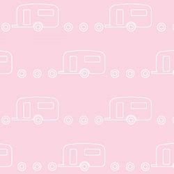 retro icons  caravan icy pole  white on pink floss