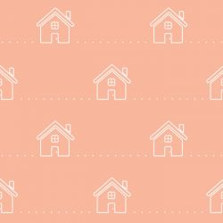 retro icons  house icy pole white on apricot