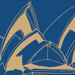city lines sydney opera large spice royalblue detail