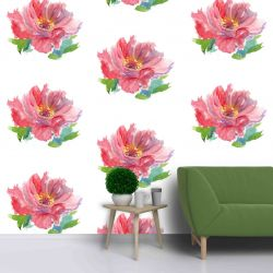 gardenlife cabbage rose multi mural