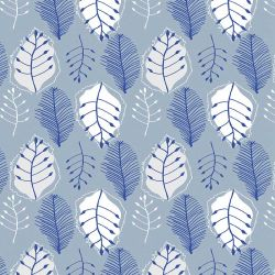the natural jungle retro leaves indigo tones