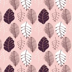 the natural jungle retro leaves plum tones