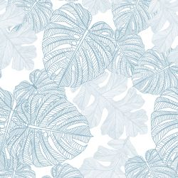 fronds silhouette monsteria mix white cloud twotone