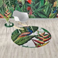 jungle chic concept carpet wallpaper