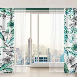 jungle chic concept curtain fabric wallpaper