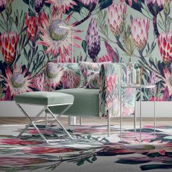 jungle chic concept wallpaper carpet upholsteryy
