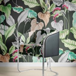 jungle chic concept wallpaper upholstery fabric