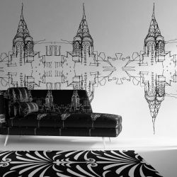 city lines concept rug couch upholstery wallpaper