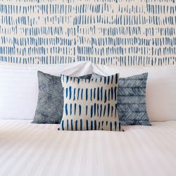 indigo embelishments concept cushion wallpaper