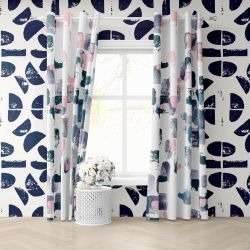 artisanal concept wallpaper and curtain