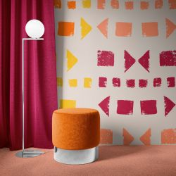 artisanal concept wallpaper ottoman cutain and carpet