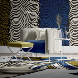 fronds silhouette concept rug upholstery and wallpaper