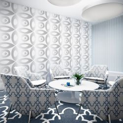 garden life concept meeting room wallpaper carpet   upholstery