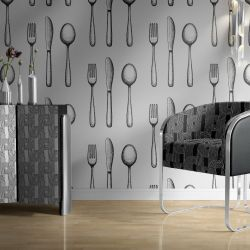 colour in concept wallpaper  chair and cabinet8