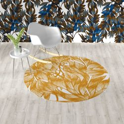 fronds silhouette concept rug and wallpaper4