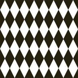 back to basics harlequin small black and white