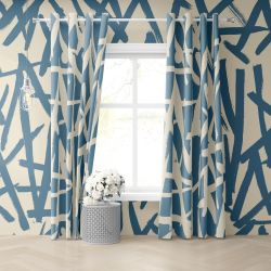 crayola scribbles concept curtain and wallpaper