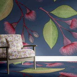 native waltz concept wallpaper carpet and upholstery dark