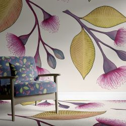 native waltz concept wallpaper carpet and upholstery light