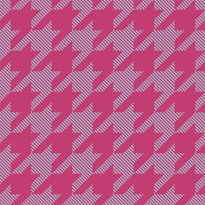 back to basics houndstooth large fuchsia and cloud