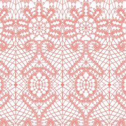 lace spiral  coralreef white