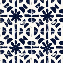 artisanal flower tile white
