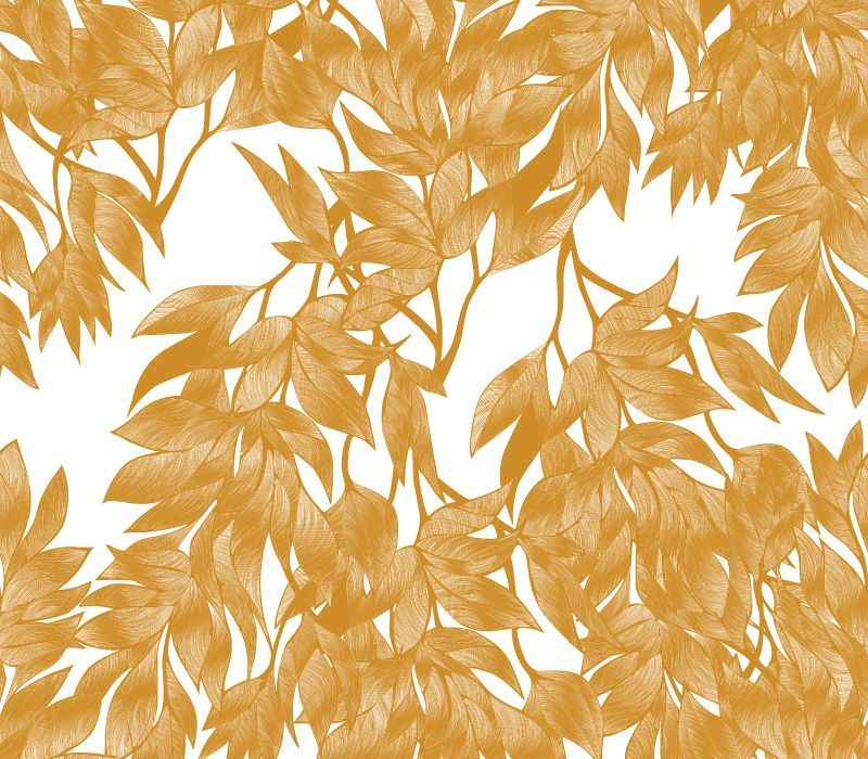 fronds silhouette interwined butternut white