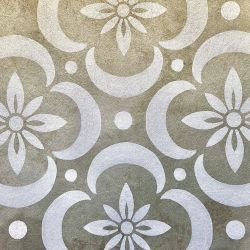 the secret garden garden tiles on metallic gold substrate