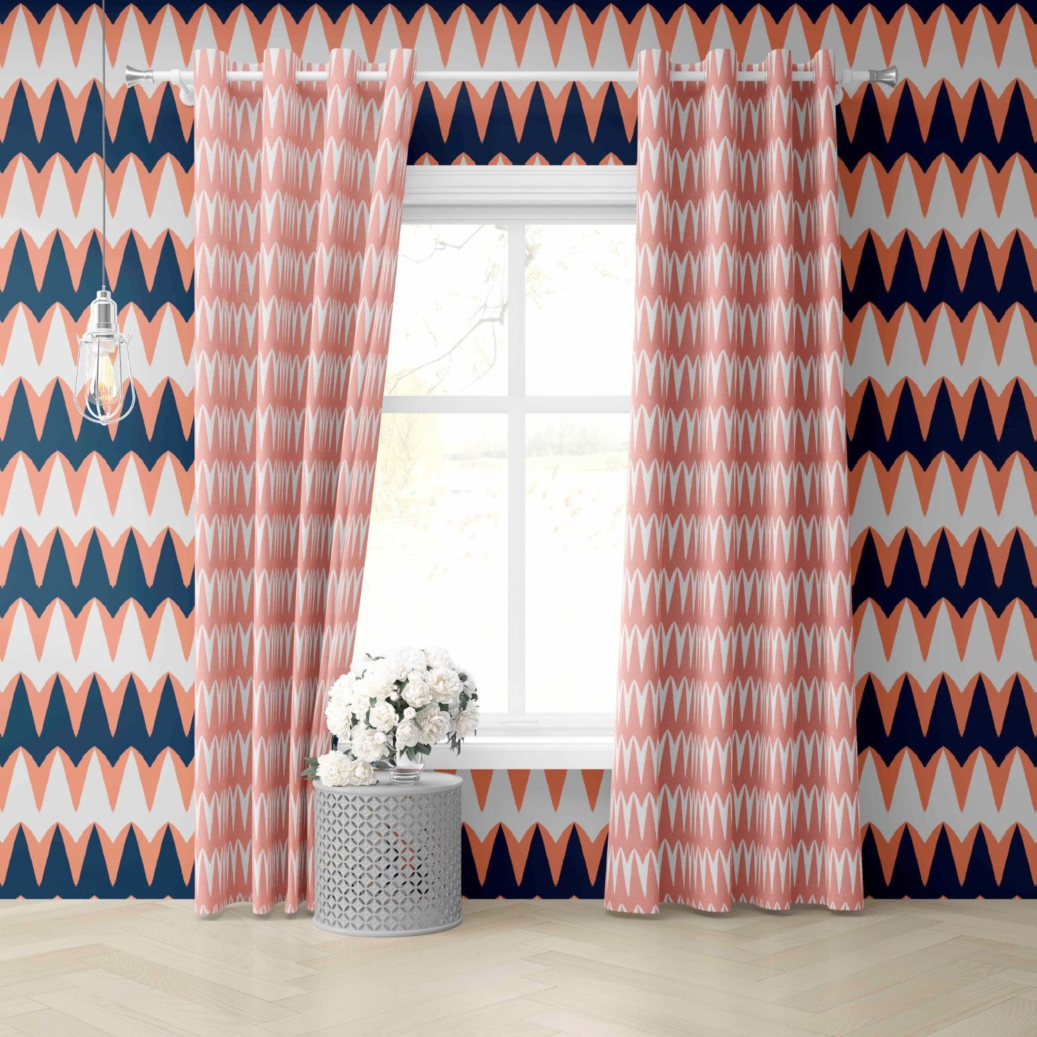 collected concept curtain and wallpaper