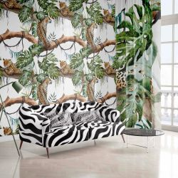 jungle fever upholstery wallpaper curtain