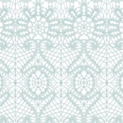 lace spiral  duckegg white