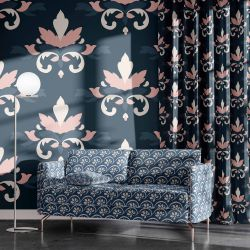 blooming impressions concept wallpaper curtain upholstery