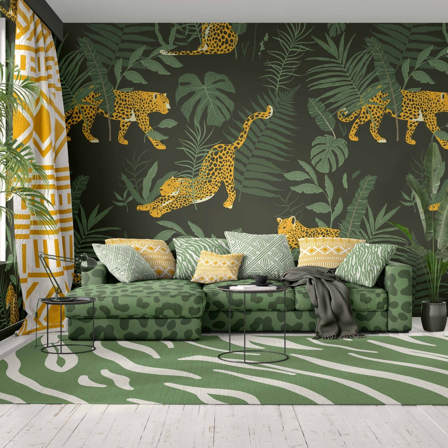 jungle playground concept wallpaper upholstery rug curtain