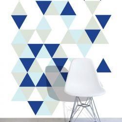 graphic murals tumbling triangle blue lagoon