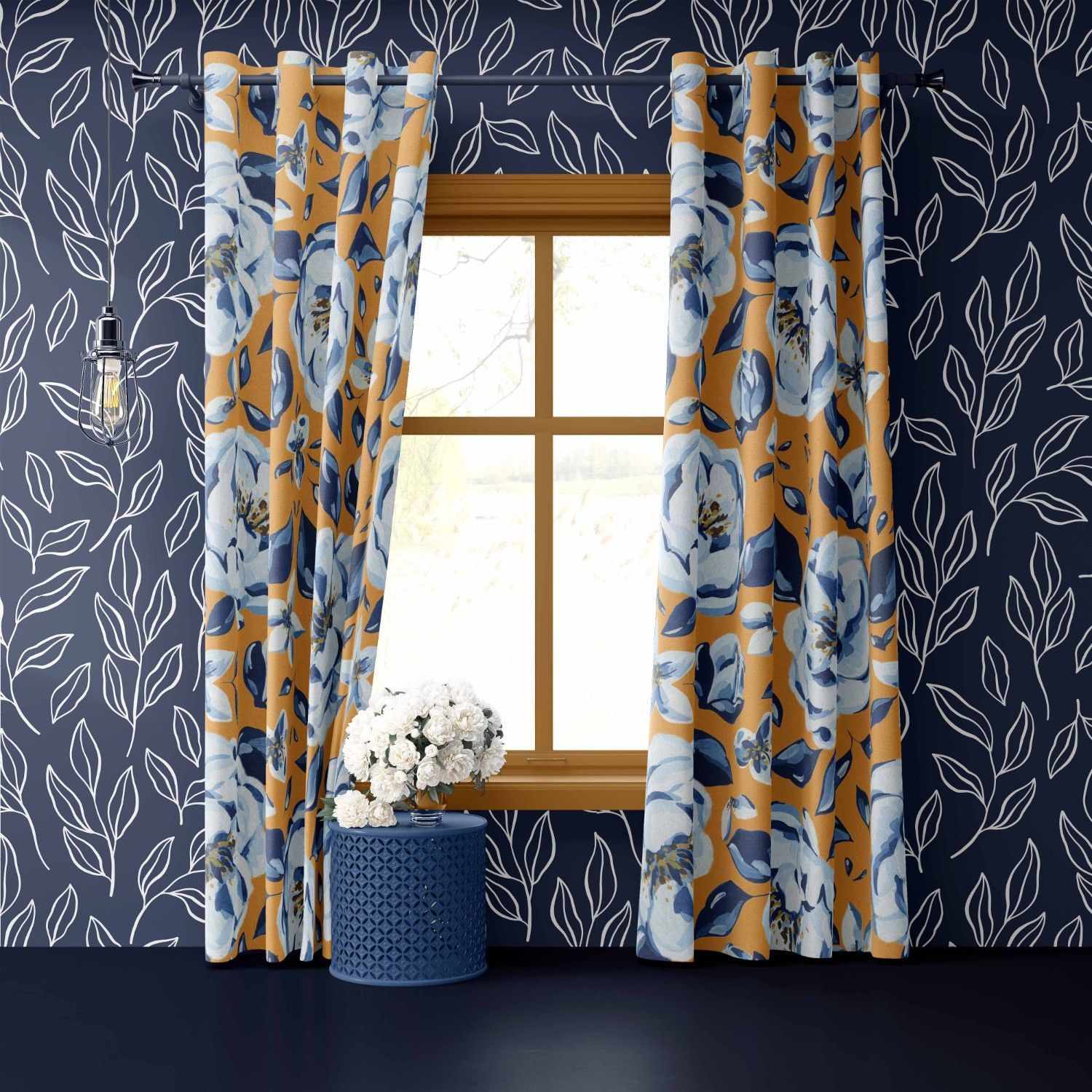 provence concept curtain wallpaper