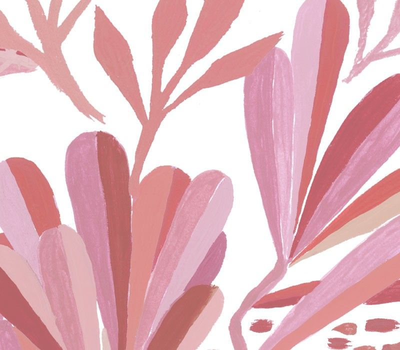 coastal flora blush detail