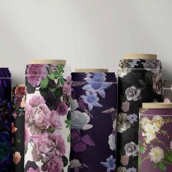 floral opulenc fabric rolls