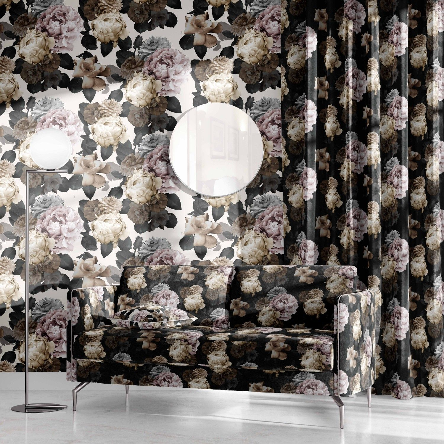 floral opulence concept curtain wallpaper upholstery