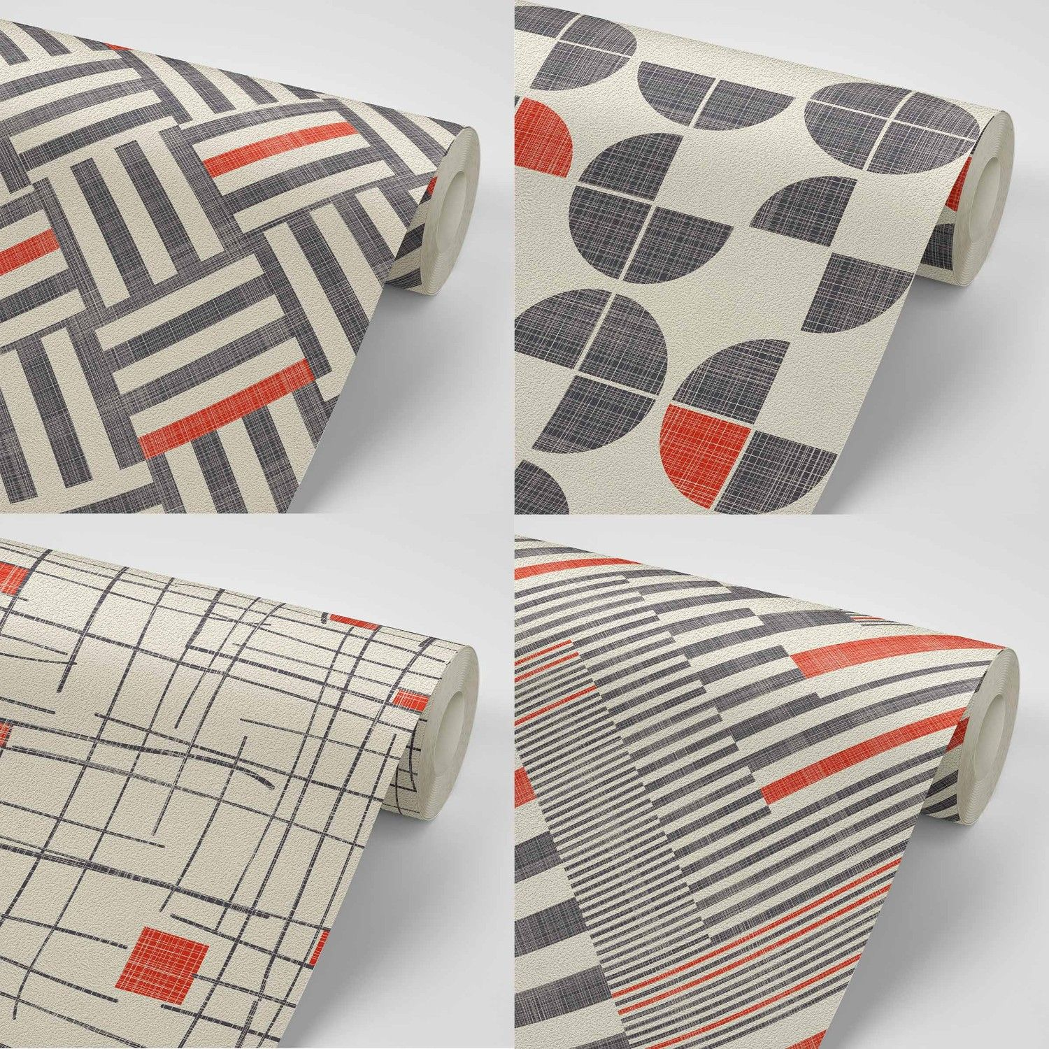 geometric twist concept wallpaper rolls