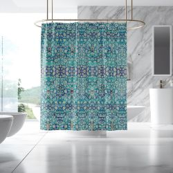 globe trotter concept shower curtain
