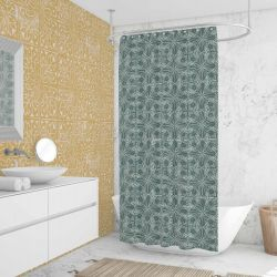 printers block concept shower curtain wallpaper
