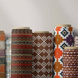 tribal concept fabric rolls
