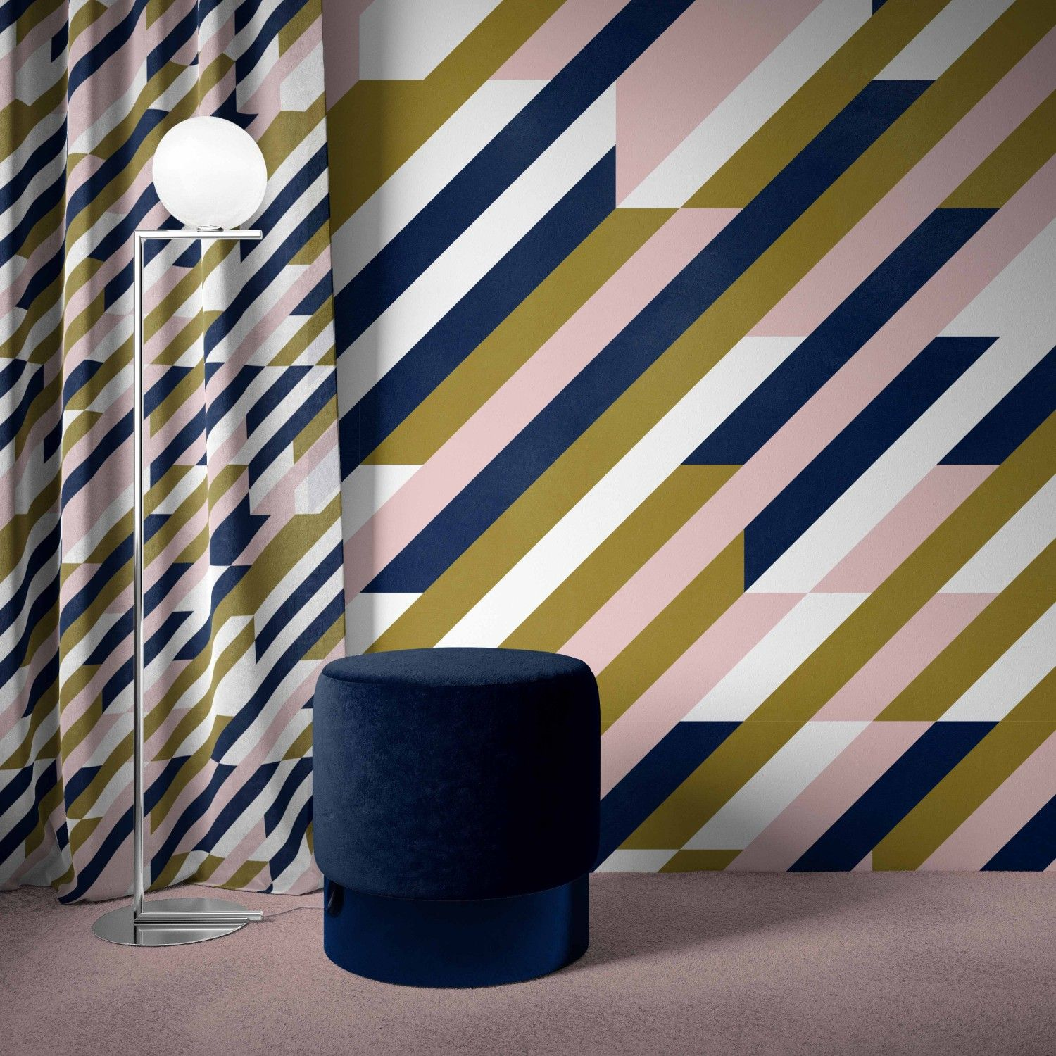 like a stripe concept wallpaper curtain
