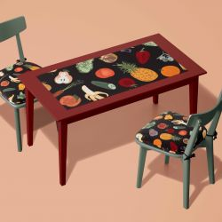 fruit veg concept table top upholstery