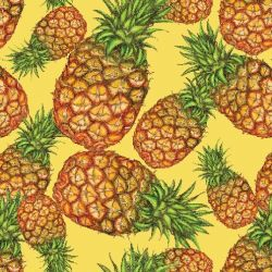 fruit veg pineapple leaf yellow