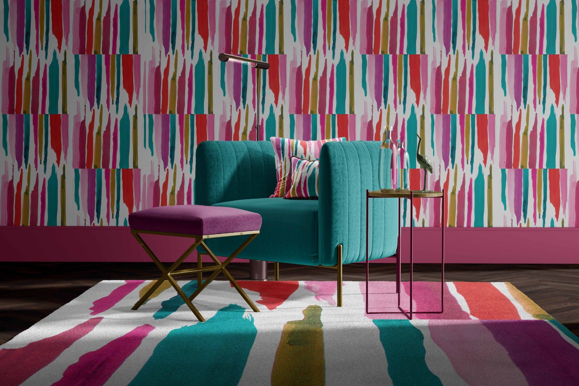 modern abstract concept rug upholstery wallpaper