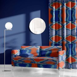 modern abstract concept upholstery curtain