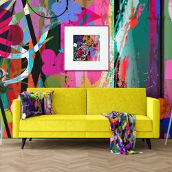 urban graphics concept wallpaper upholstery