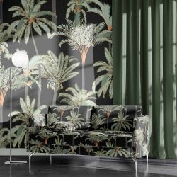 jungle chic concept upholstery wallpaper