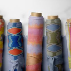 modern abstract concept fabric rolls